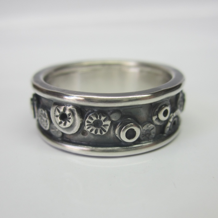 Hj Bespoke Nuts And Bolts Wedding Band