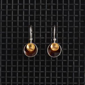 Earrings-Enamel Drop-Chocolate-Small