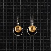 Earrings-Enamel Drop-Black-Large