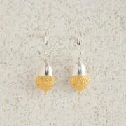 Earrings-Charm Drop-Acorn-Small-Gold