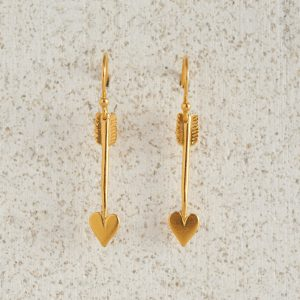 Earrings-Charm Drop-Arrow-Small-Gold