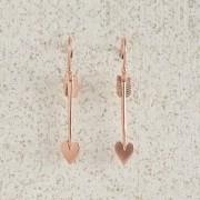 Earrings-Charm Drop-Arrow-Small-Rose