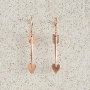 Earrings-Charm Drop-Arrow-Small-Rose