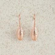 Earrings-Charm Drop-Beetle-Rose