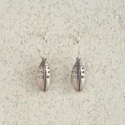 Earrings-Charm Drop-Beetle-Silver