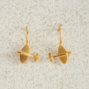 Earrings-Charm Drop-Spitfire-Small-Gold