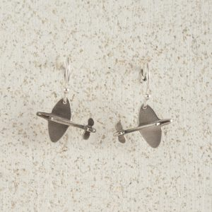 Earrings-Charm Drop-Spitfire-Small-Silver
