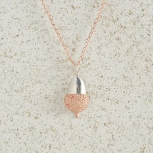 Necklaces-Charm Pendants-Acorn-Small-Rose