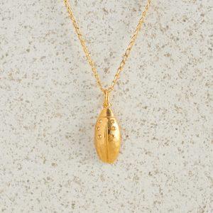 Necklaces-Charm Pendants-Beetle-Gold