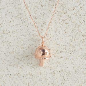 Necklaces-Charm Pendants-Mushroom-Rose